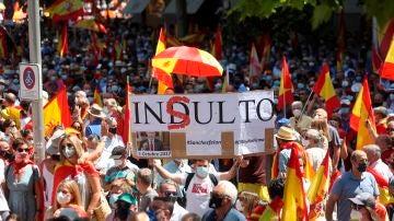 Manifestación en Colón contra los indultos.
