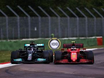 Lewis Hamilton y Carlos Sainz