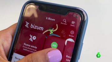 Imagen de la app de Bizum en un móvil