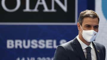 Pedro Sánchez llega para asistir a una cumbre de la OTAN