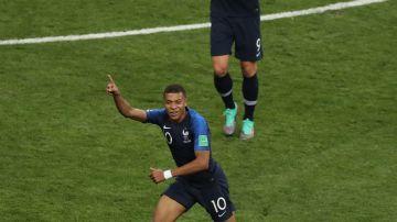 Kylian Mbappé y Olivier Giroud en el Mundial de Rusia 2018
