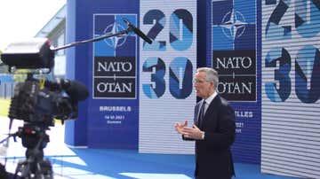 El secretario general de la OTAN, Jens Stoltenberg, en una rueda de prensa.
