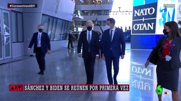 Encuentro de Sánchez y Biden