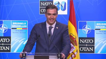 """Sánchez, tras su breve encuentro con Biden en la OTAN: """"Era una primera toma de contacto"""""""