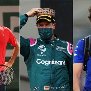Roger Federer, Sebastian Vettel y Fernando Alonso