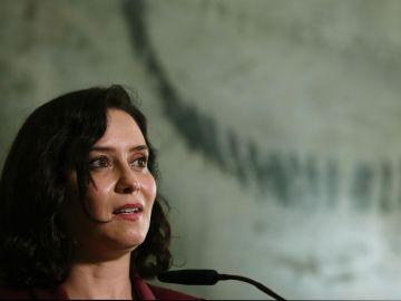 La presidenta madrileña en funciones, Isabel Díaz Ayuso.