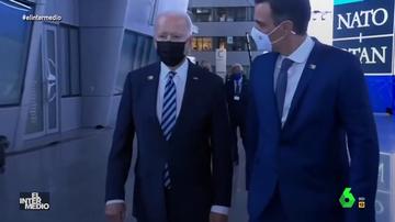 """Vídeo manipulado - La 'verdadera' conversación de Pedro Sánchez con Joe Biden: """"Tú debes ser importante, ¿no?"""""""