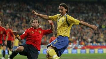 Sergio Ramos y Zlatan Ibrahimovic, las grandes ausencias del España - Suecia