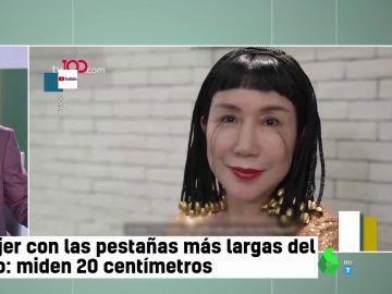 Esta es la mujer con las pestañas más largas del mundo: le miden 20 centímetros