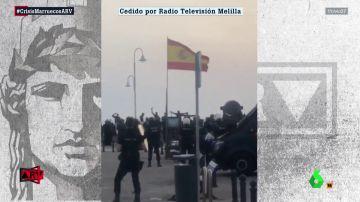 Heridos nueve guardias civiles al frenar la entrada 150 migrantes a Melilla