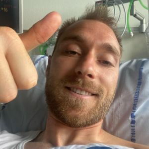 Christian Eriksen, en el hospital