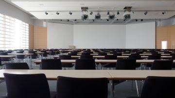 Imagen de archivo de un aula en una universidad