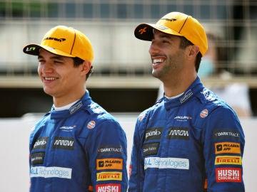 Lando Norris y Daniel Ricciardo