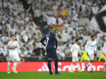 Kylian Mbappé, en el Santiago Bernabéu