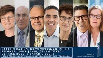 Los creadores de vacunas contra el coronavirus, Premio Princesa de Asturias de Investigación
