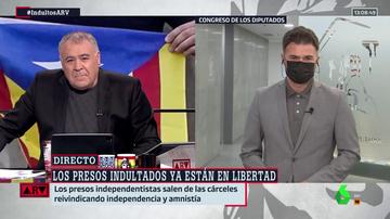 """Rufián (ERC), tras los indultos, habla de """"buena noticia"""" y cree que los catalanes hoy """"o están contentos, o pasan"""""""