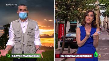 """El 'enfrentamiento' entre Dani Mateo y Cristina Gallego por el fin de las mascarillas que acaba en peinetas: """"¿Pero tú de qué vas?"""""""