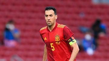 Sergio Busquets, capitán de la selección española de fútbol