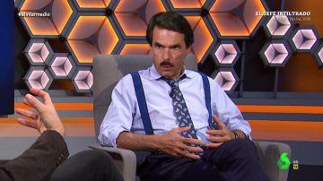 """""""Aquí mandan mis santos cojones"""": la 'entrevista por la cara' a Aznar en El Intermedio"""