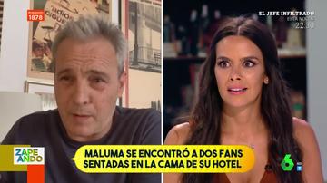"""David Summers deja loca a Cristina Pedroche al recordar las giras de Hombres G: """"Niñas se escondían en la cama o la bañera del hotel"""""""