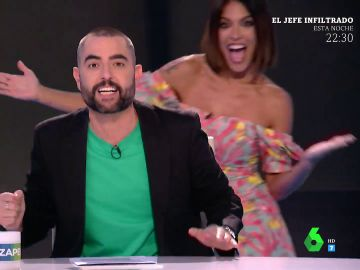 La emoción de Lorena Castell cuando Dani Mateo anuncia en directo que será la presentadora sustituta en verano