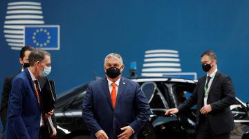 El primer ministro húngaro Viktor Orbán, a su llegada al Consejo Europeo