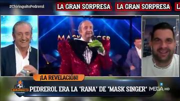 Josep Pedrerol, a cara descubierta cantando 'Solo' de Omar Montes en 'Mask Singer'