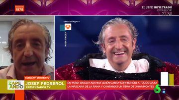 "La divertida entrevista a Josep Pedrerol tras desvelar que es Rana en Mask Singer: ""La Spice me quitó protagonismo"""