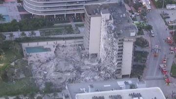 Edificio que ha colapsado parcialmente en Miami
