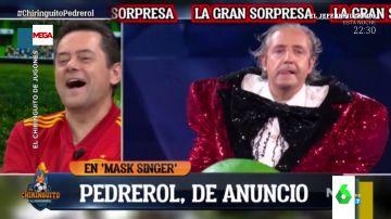 """Así fueron las bromas de El Chiringuito de Jugones con el """"bailecito"""" de Josep Pedrerol en Mask Singer"""