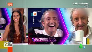 """La reacción de Cristina Pedroche al descubrir a Josep Pedrerol disfrazado Rana en Mask Singer: """"Me meo con él"""""""