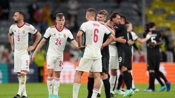 Momento del partido entre Hungría y Alemania