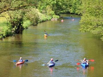Kayaks en el río Ourthe