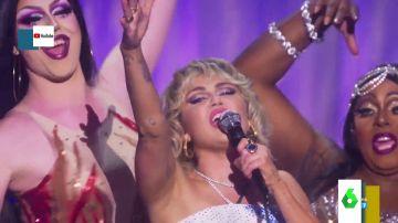 La espectacular interpretación de 'Belive' con la que Miley Cyrus inaugura los actos del Orgullo LGTBI 2021