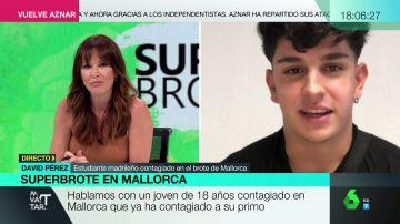 Mamen Mendizábal entrevista a un joven que estuvo en el viaje de fin de curso a Mallorca