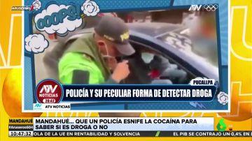 Un policía esnifa cocaína para saber si un sospechoso trafica con droga