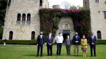 Calvo en el acto de apertura de los jardines del Pazo de Meirás