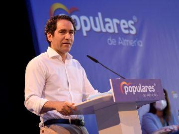 Teodoro García Egea en un acto del PP