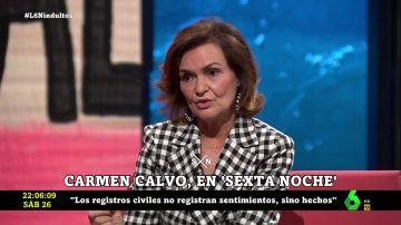 Carmen Calvo en laSexta Noche