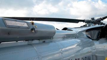 Los proyectiles en el helicóptero del presidente de Colombia, Iván Duque.