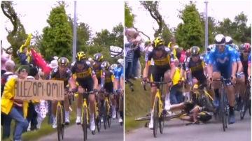 Caída masiva en el Tour de Francia