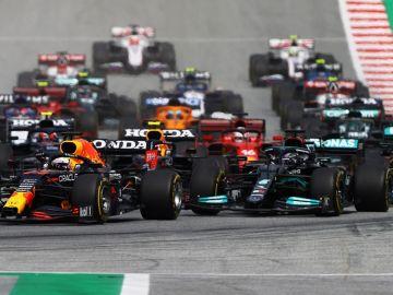 Salida del Gran Premio de Estiria