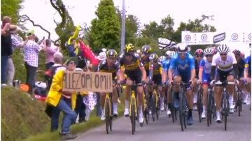 Aficionada que provocó una caída masiva en el Tour de Francia