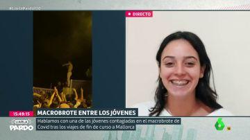 Soraya Serrano, estudiante contagiada