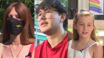 Sara, Lucas y Cloe celebran la nueva ley trans