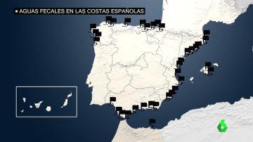 Estas son las 48 zonas costeras que se llevan 'bandera negra' en 2021 por su mala gestión ambiental