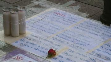 Homenajes a Samuel, el joven asesinado en A Coruña