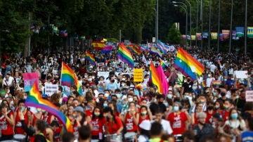 Movilización del Orgullo LGTBI 2021 en Madrid