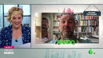 Un micro abierto pilla a Cristina Pardo en pleno directo de Liarla Pardo
