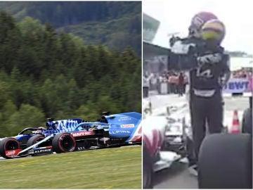 Alonso contra Russell... y su posterior abrazo